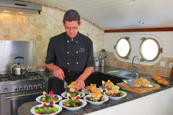 Luxury hotel barge, Enchante chef Sylvain