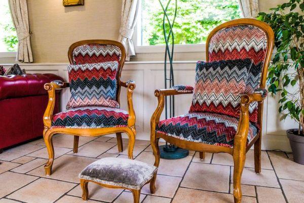 Furniture inside salon