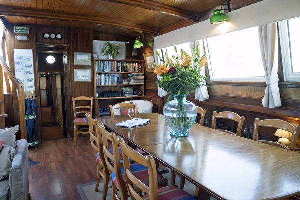 Dining aboard Athos