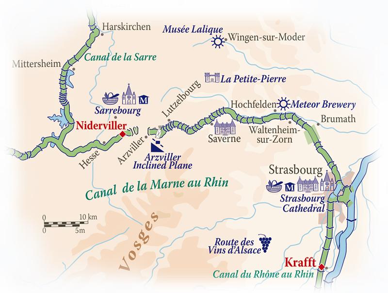 Panache Alsace Map