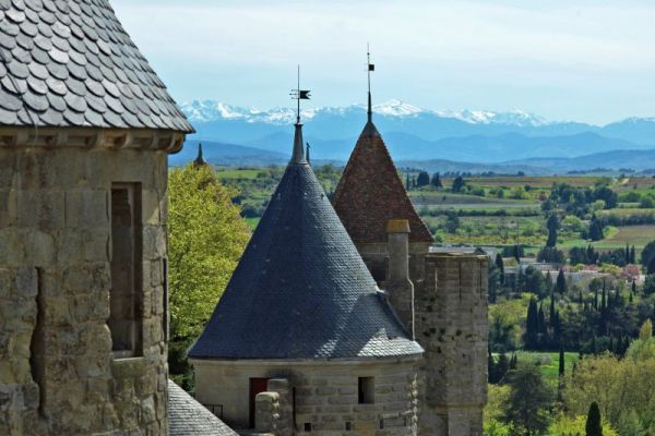 Pyrenees View from Carcassonne