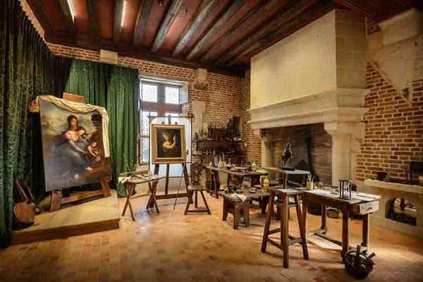 © Château du Clos Lucé Ateliers de Léonard de Vinci © Léonard de Serres