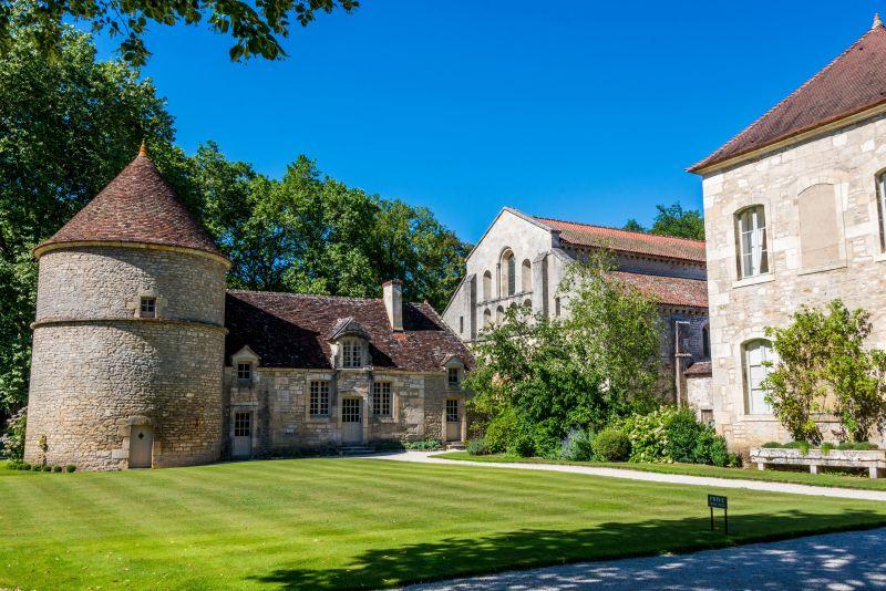 The Abbey de Fontenay near the Canal de Bourgogne