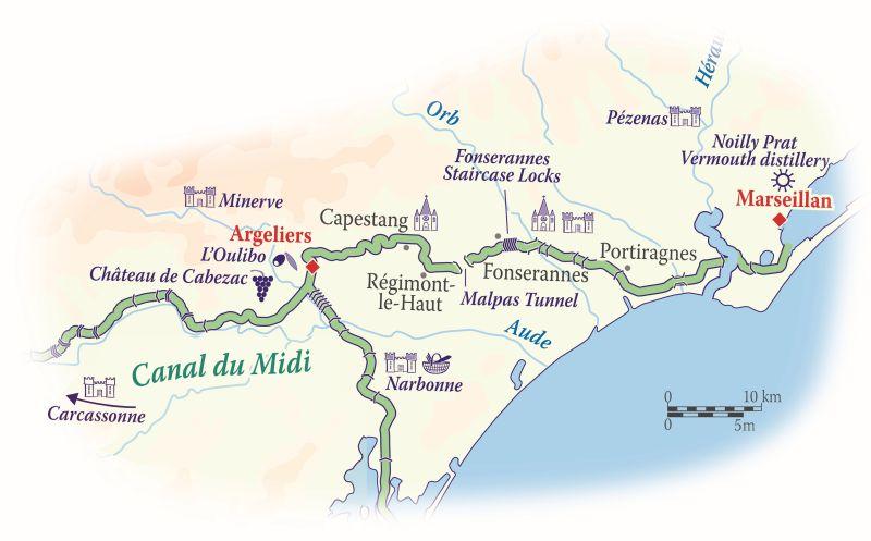 Canal du Midi Map