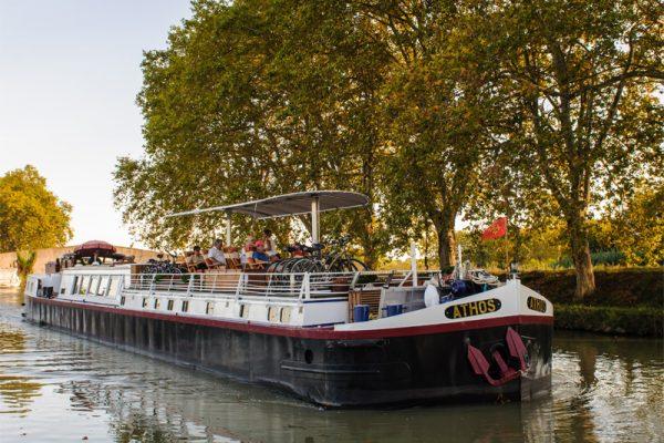 Athos Barge Cruising