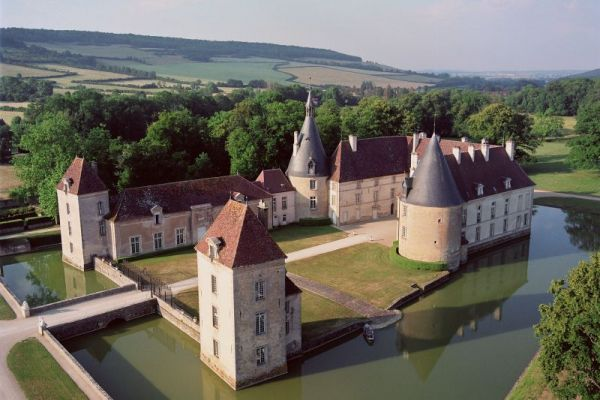 Chateau de Commarin - Aerial View