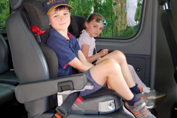 Kids aboard Minibus