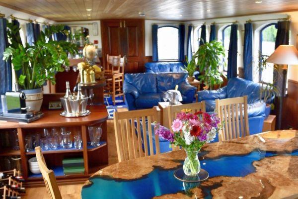 Magna Carta barge Saloon