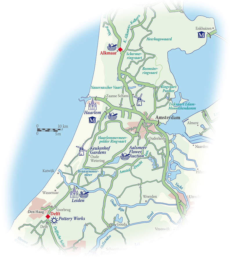 Holland Canals Map