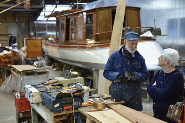 Peter Freebody's boatyard on the River Thames