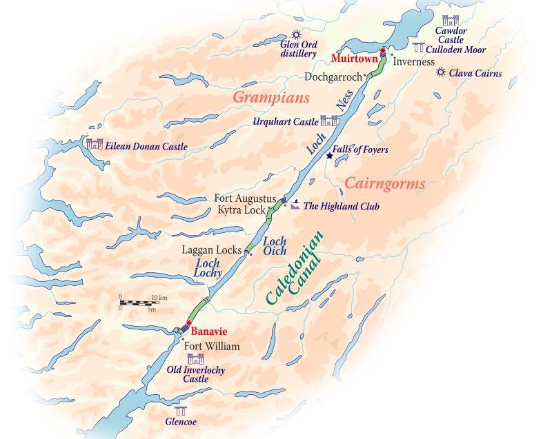 Caledonian Canal Map