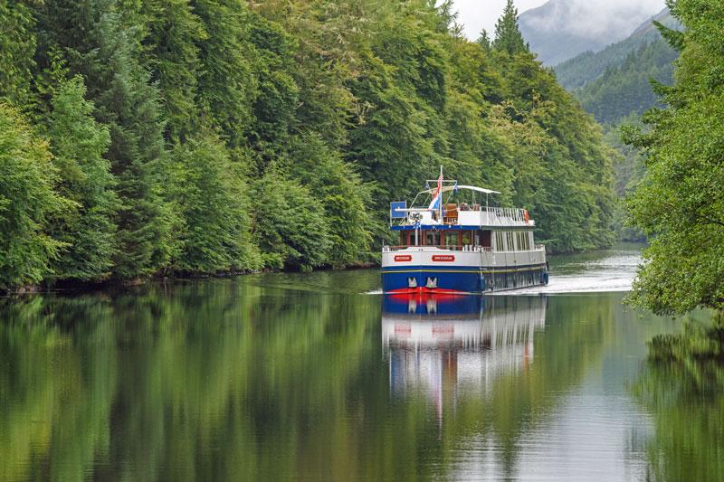 The Spirit of Scotland luxury hotel barge