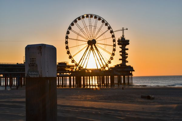 Scheveningen - a popular hotspot for sunbathing in Holland