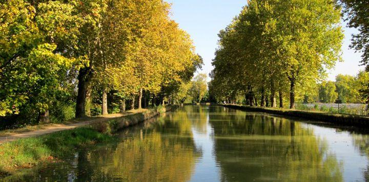 The Canal de Garonne in Southwest France