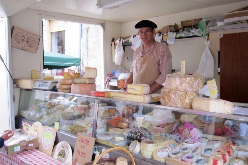 Cheese Seller In Noyers