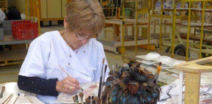 Pottery Painter in Gien France