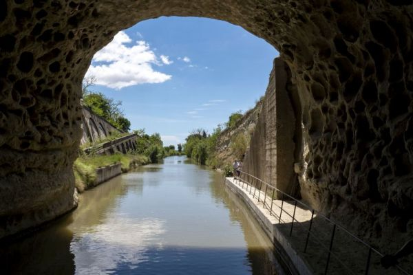 Tunnel on the Canal du Midi