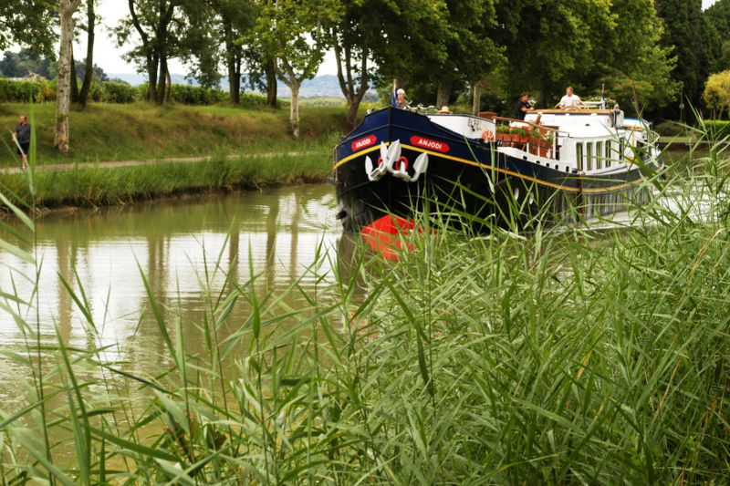 Anjodi cruising the Canal du Midi - barge holiday in France