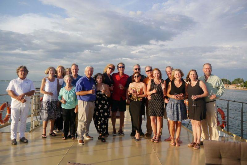 Guests aboard charming La Bella Vita cruise from Venice to Mantua in Italy