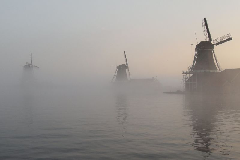 Zaanse Schans Early Morning by Judith