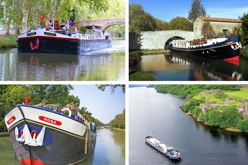Various Hotel Barges Cruising