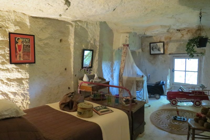 Trogolodyte Cave with bed and accessories - One of the best things to do in the Loire Valley