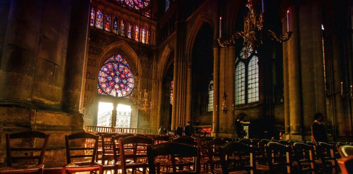 Reims Cathedral Interior - Canal Holidays in France