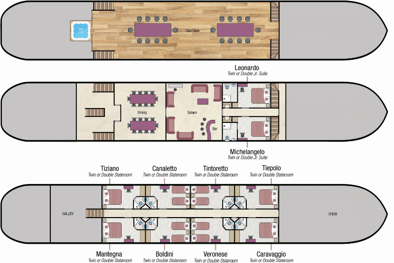 LBV - Deck Plan - River Cruises in Italy