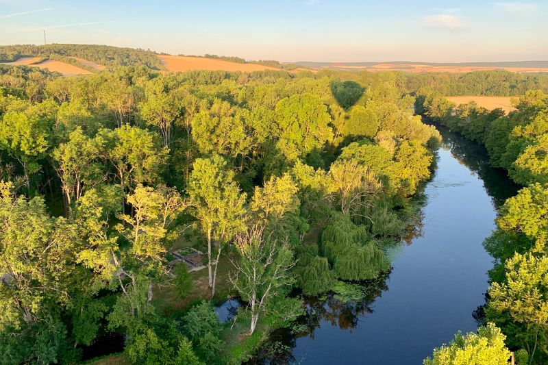 Aerial Shot of Burgundy Canal