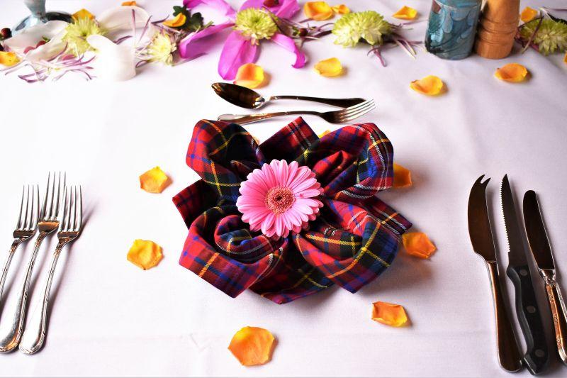 Dining Table aboard Scottish Highlander