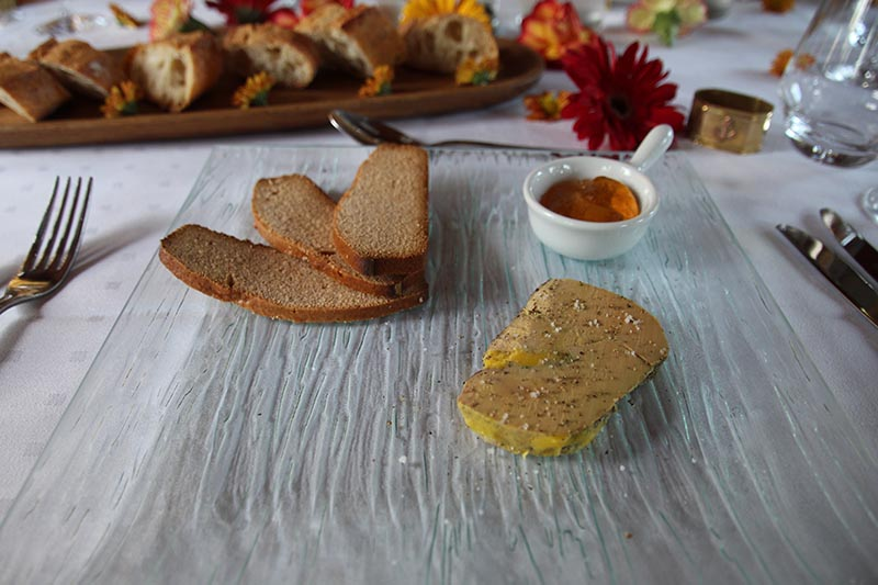 Foie Gras served with freshly baked bread