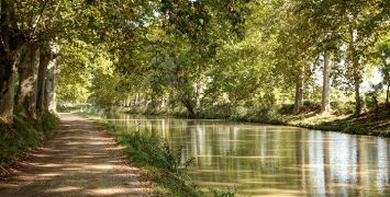 The 360-km network of navigable waterways make up the Canal du Midi - a UNESCO World Heritage site in France