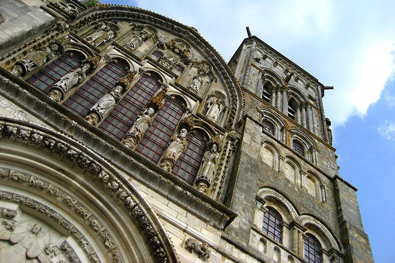 Vézelay Abbey, a monastery in France that's also a UNESCO World Heritage Site