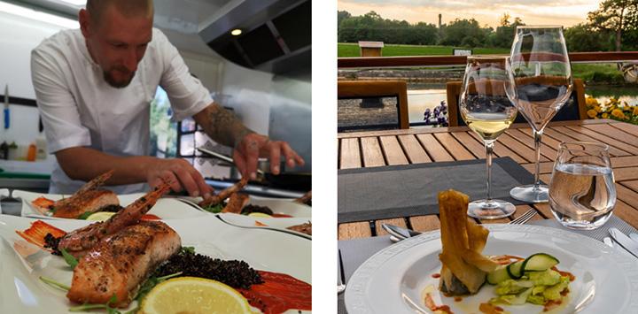 Haute cuisine prepared by Chef Arnis aboard luxury hotel barge La belle Epoque