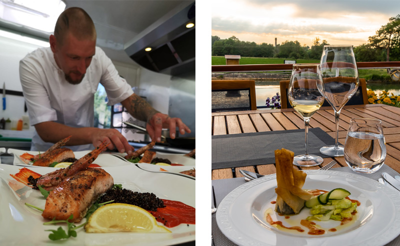 World-class cuisine aboard La Belle Epoque luxury hotel barge