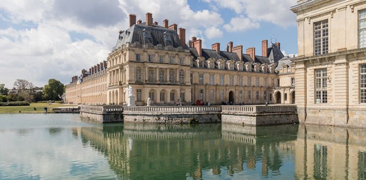 The Chateau Fontainebleau, France, located to the south of Paris, is a UNESCO World Heritage Site