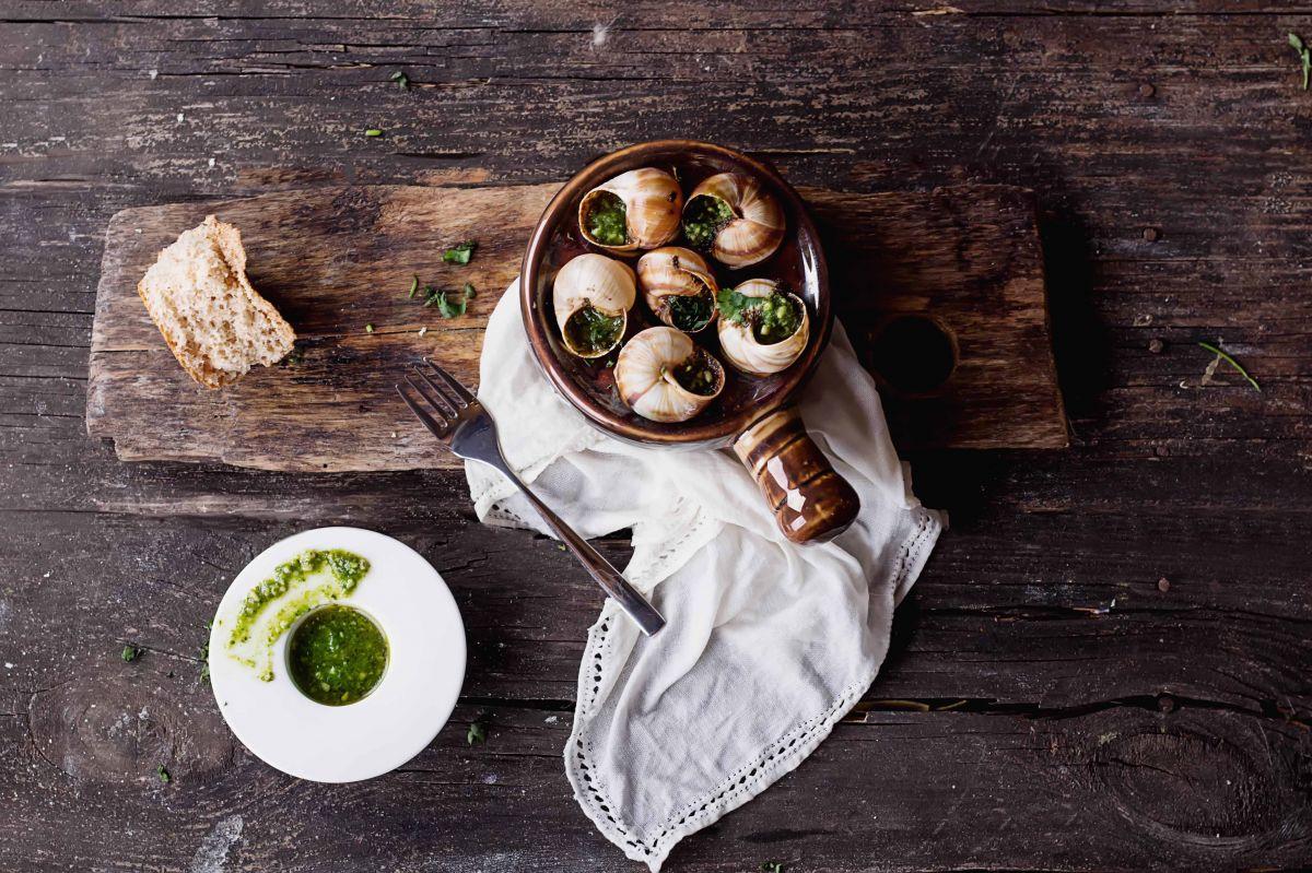 Escargots a la Bourguignonne is a local delicacy in Burgundy
