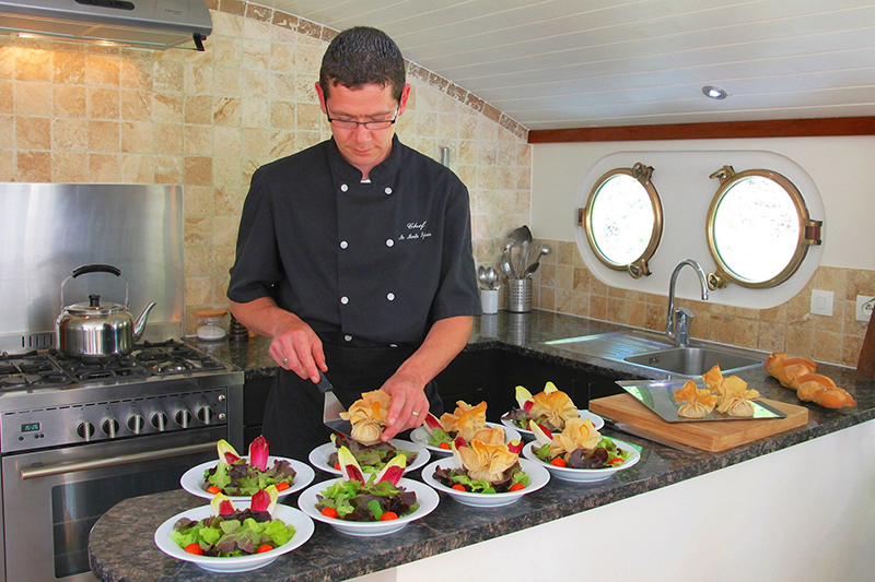 Local ingredients are used in all our onboard meals, including the very best of Burgundy's offerings.