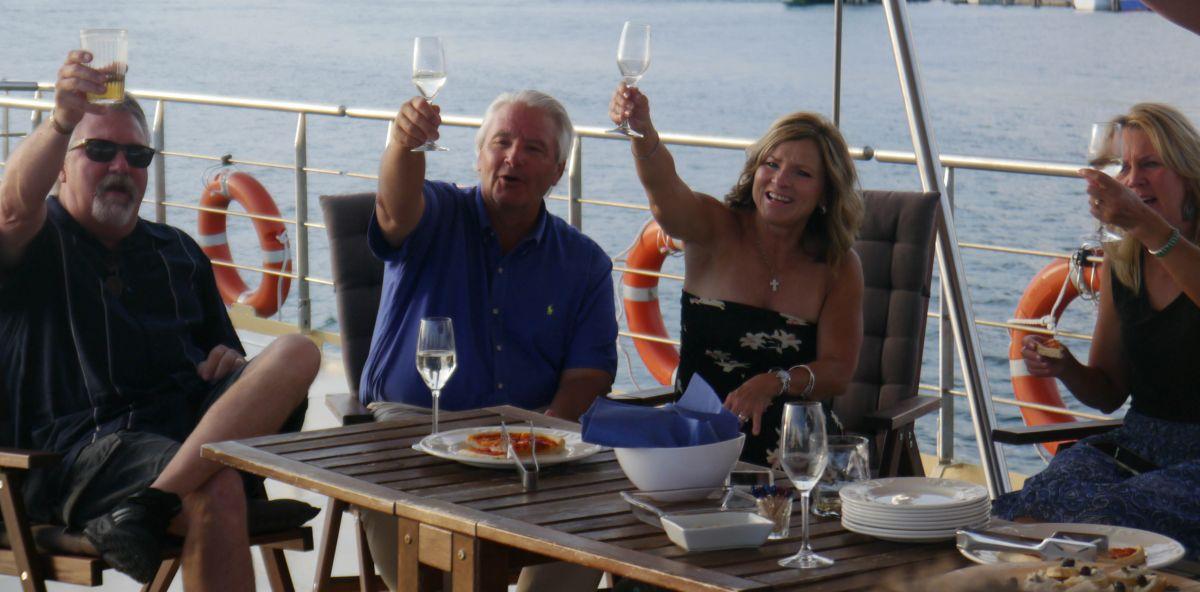 Life-long friends who have only just met aboard European Waterways' La Bella Vita