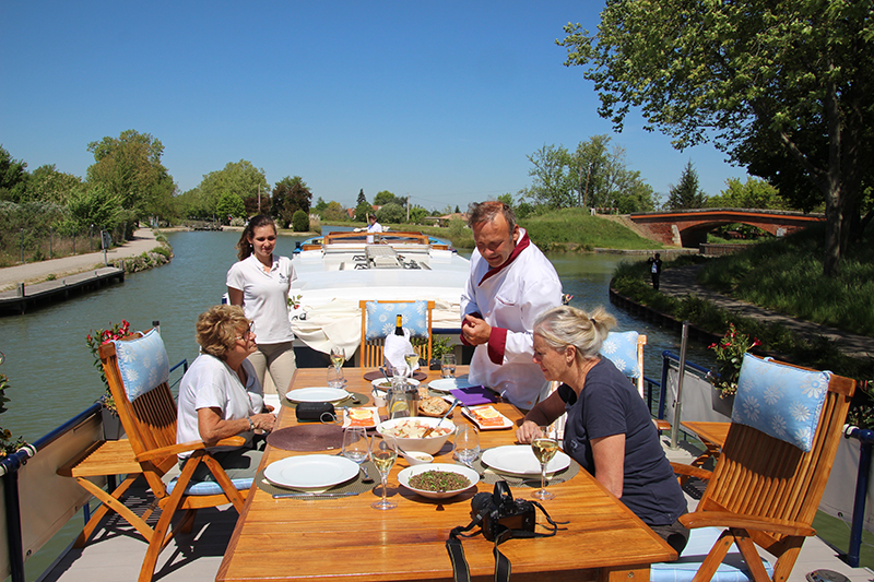 European Waterways' master chefs prepare world-class cuisine. Meet Chef Erell from luxury hotel barge Rosa
