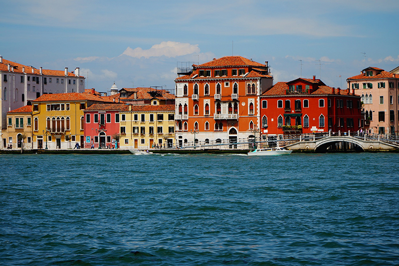 Venice's most prominant waterway, the Giudecca Canal is four kilometres long, separating the district of Dorsoduro from Giudecca