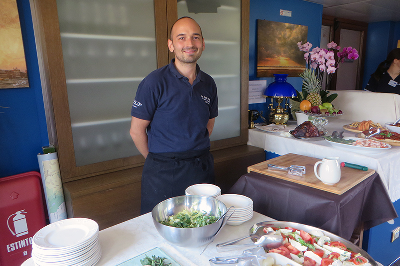 European Waterways' master chefs prepare world-class cuisine. Meet Chef Andrea from luxury hotel barge La Bella Vita