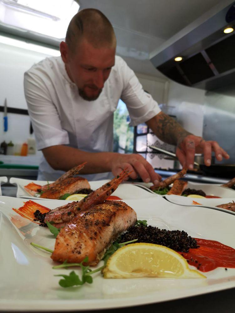 European Waterways' master chefs prepare world-class cuisine. Meet Chef Arnis from lxury hotel barge La Belle Epoque