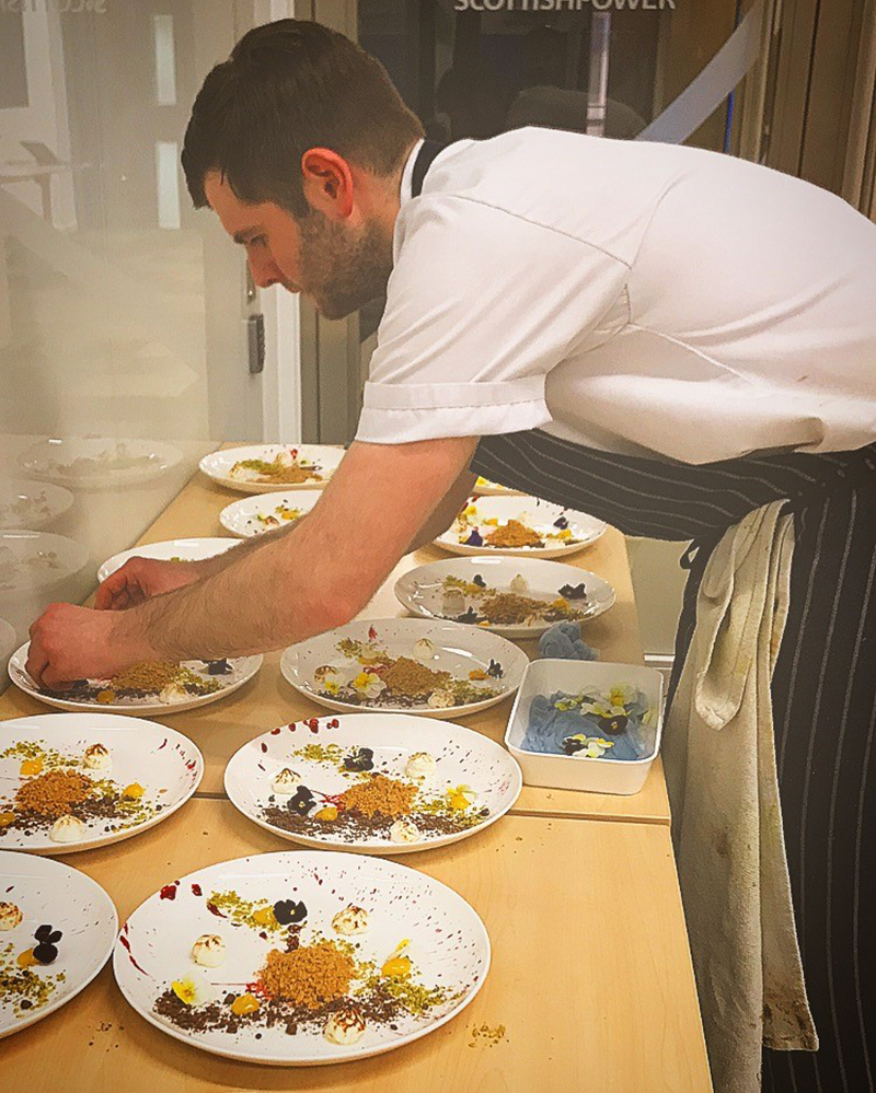 European Waterways' master chefs prepare world-class cuisine. Meet Chef Jonathan from lxury hotel barge Panache