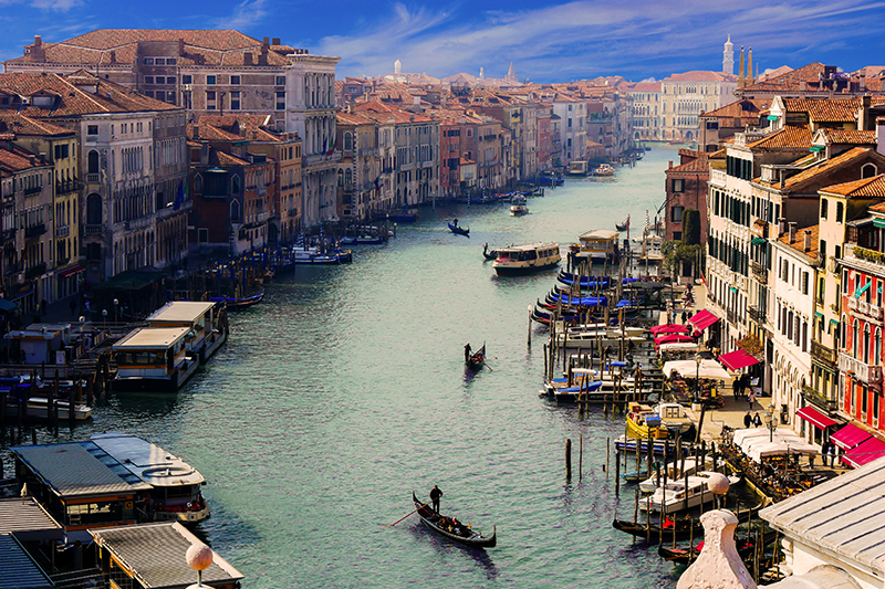 The Grand Canal in Venice is a filming location for James Bond's Casino Royale. Witness Venice and its surrounds on a luxury barge cruise