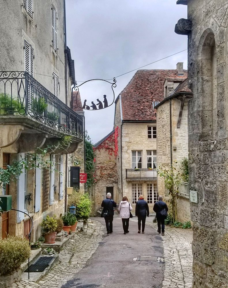 The chocolate box village of Flavigny-sur-Ozerain from the film Chocolat, can be visited on a European Waterways luxury barge cruise