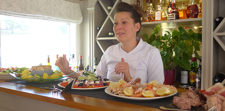 Hannah Dunleavy is the master chef aboard luxury hotel barge Renaissance in the Loire Valley
