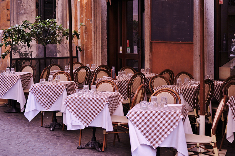 A typical French bistro