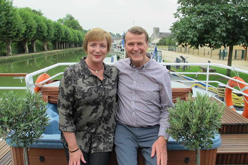 Judy and her husband cruised Western Burgundy aboard luxury hotel barge, Renaissance