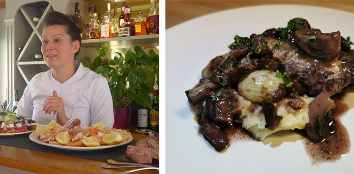 Renaissance chef Hannah Dunleavy creates coq au vin - an authentic Burgundian dish